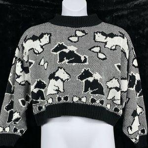 Vintage Sugar Co Ltd Large Sweater Cropped Dog